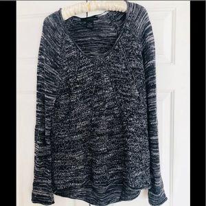Calvin Klein Jean long marled crochet sweater